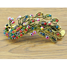 Antique Bronze Plated Peafowl Shape Beautiful Hair Clips