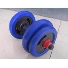 15kg 25kg par de hierro de hierro de arena pesa con barra de PVC
