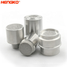 Flame & explosion-proof sintered metal assembly porous SS 316L gas sensor housing