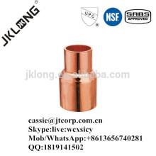Acoplamiento reductor de cobre para montaje en cobre C * C
