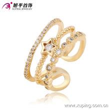 Fashion Elegant CZ Star 18k Gold-Plated Women Jewelry Ring -13667