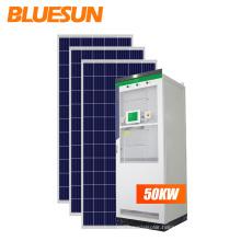 Bluesun hybrid solar energy system 50kw 100kw 200kw 500kw 1mw solar system  roof solar system for factory