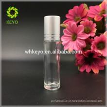 5 ml 8 ml 10 ml de óleo essencial rolo de vidro transparente na garrafa com bola de aço inoxidável