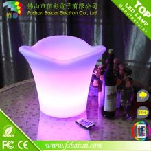Cubeta de plástico LED para cerveja