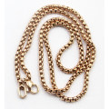 Chaîne de perles en acier inoxydable plaqué or rose Fashion