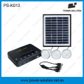 Qualified 4W Solar Panel 3PCS 1W SMD LED Bulbs Solar Kit Home Lighting with Phone Charging (PS-K013)