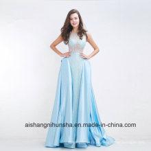 Modische A-Linie bodenlangen Tüll Long Prom Kleider