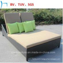 Modern Design Rattan Garden Double Chaise Lounge