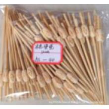 Natural Pyrograph Bamboo Stick