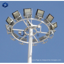 30m galvanizado en polvo de recubrimiento de alta iluminación del mástil polo de acero