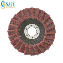 Roda de aba de pano não tecido / disco abrasivo