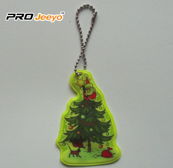 Reflective Safety Christmas Tree Key Chain Rv 213b 1