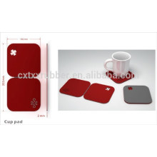 glass cushion pads, silica gel coaster