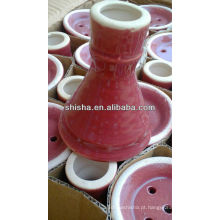 Tigela de cerâmica do cachimbo de água na tigela de tabaco do shisha estoque tigela do cachimbo de água bacia