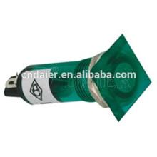 Montagem do painel da luz piloto conduzida de 10mm; Quadrado da lâmpada de indicador plástico de 10mm; Luz indicadora do forno 220v