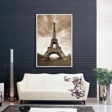 Weinlese-Eiffelturm-Foto-Drucken-Segeltuch mit schwimmendem Rahmen