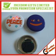 Give Away Logo Printed Flashing Light Badge