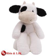 Diseño OEM personalizado relleno juguete de vaca negro