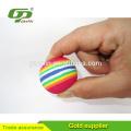 Customized Golf eva ball / golf rainbow ball / foam color golf ball