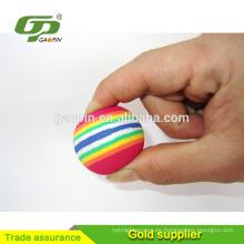 Juguetes coloridos de la pelota de golf del arco iris de EVA para el golf de la práctica de interior