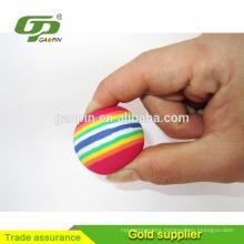 Colorful EVA Rainbow Golf Ball Toys For Indoor Practice Golf