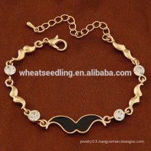 New arrival gold and silver chain beard bracelet fashion