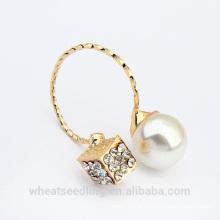 2015 vente en gros anneau plaqué or en perle de nouvelle conception
