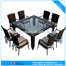 Modern dining room wicker furniture leisure rattan dining table and chair (4303)