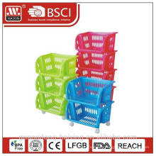 2015 new item kitchen plastic rack 3 layers/4 layers/5 layers rack for home storage
