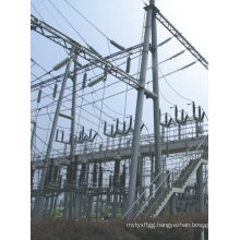 110kv Hot DIP Galvanized Substation Structure Steel Pole