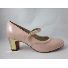 2016 Fashion High Heel Chunky Ladies Dress Shoes (HCY03-101)