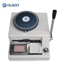 Máquina estampadora manual de tarjetas inteligentes con mejores ventas de PVC