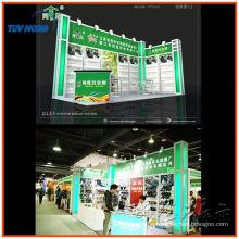 zwei Wände Messestand Displays mit L-Form Export ins Ausland aus Lamellenwand und Aluminiumprofil