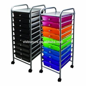 Vente chaude de Vivinature pour le chariot de stockage et le chariot en plastique de tiroir