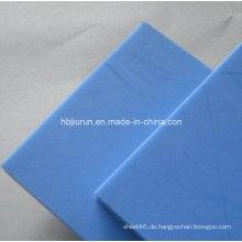 100% Virgin Accel POM Delrin Blatt in blauer Farbe