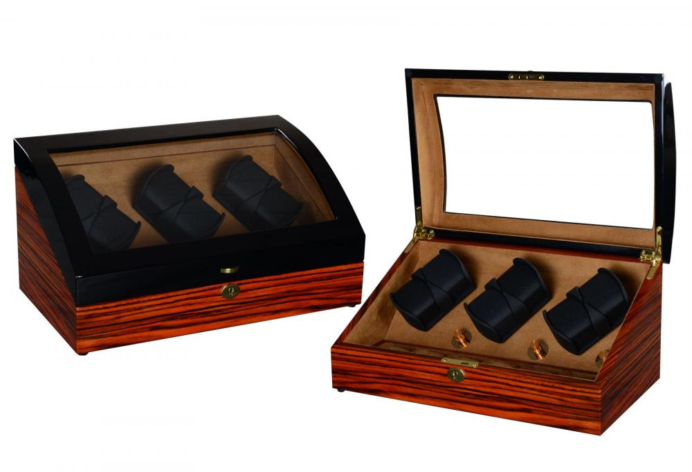 Ww 8223 Zebra Wood Watch Winder