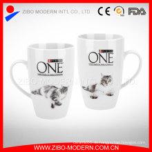 Weiße Porzellan-Becher Großverkauf, keramische Kaffeetasse, keramische Becher-Schalen