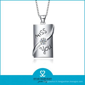 OEM a accepté les chaînes de collier de serpent argenté 925 (N-0216)