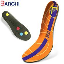 Plantillas suaves del cojín del zapato del deporte de la espuma de la PU del baloncesto