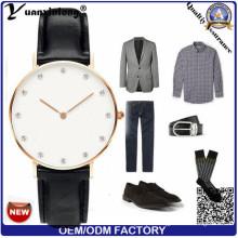 Yxl-240 Men Women Fashion Custom Logo Watch Quartz Brand Watches Genuine Leather Men Business Watch Wrist