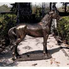 Estátua de tamanho de vida de cavalo de bronze de alta qualidade para decoração de jardim
