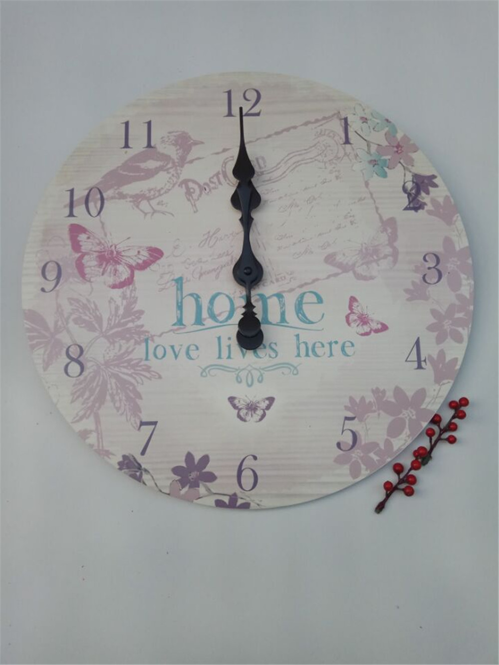 girl room warm wooden clock