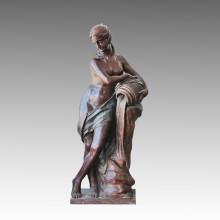 Große Statue Nude Lady Brunnen Bronze Skulptur, Milo Tpls-009