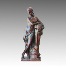 Large Statue Nude Lady Fountain Bronze Sculpture, Milo Tpls-009