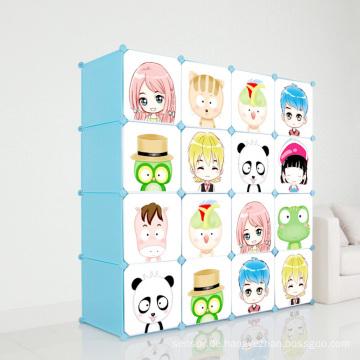 DIY Kunststoff Kinder Kleiderschrank Schränke für Haus (ZH001)