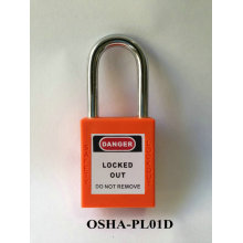Padlock for safety lockout