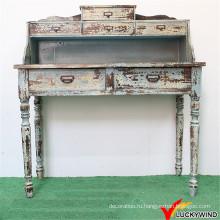 Handmade Indoor Distressed Wood Резной стол консоли