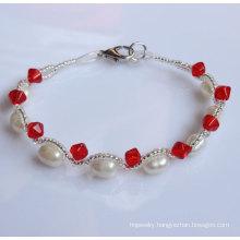 Cheap Fashion Freshwater Natural Pearl Bracelet (EB1512-1)
