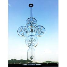Swiss Biscuit Glass Wasserpfeife Recycling Rauchen Pfeife Inliner Perc Glas Wasser Rohr