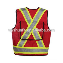 high visibility reflective vests CSA Z96-09 norm 100% polyester tricot fabric